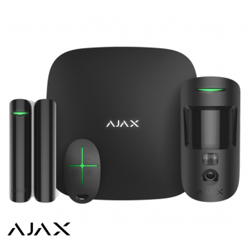 Ajax StarterKit Cam zwart, Hub 2,  MotionCam, DoorProtect, SpaceControl