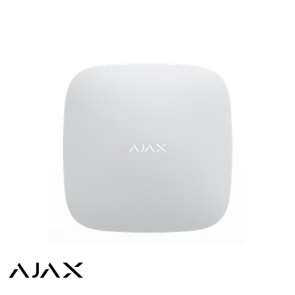 Ajax Hub+, wit, met 2 x GSM, WiFi en LAN communicatie