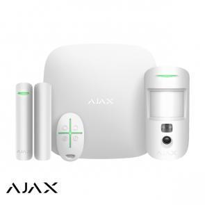 Ajax Hubkit 2, wit, 2x GSM/LAN hub, motioncam, deurcontact, afstandsbediening