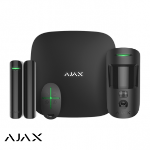 Ajax Hubkit 2, zwart, 2x GSM/LAN hub, motioncam, deurcontact, afstandsbediening