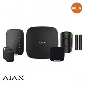 Ajax PLUS KIT 1 ZWART: Hub 2, Keypad Plus, Tag, MotionProtect, Doorprotect, HomeSiren