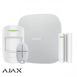Ajax Hub+kit, wit, 2x GSM/LAN hub, PIR, deurcontact, afstandsbediening