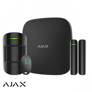 Ajax Hub+ kit, zwart, 2x GSM/LAN hub, PIR, deurcontact, afstandsbediening