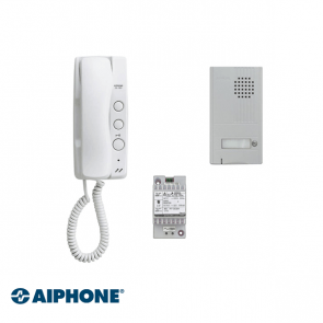 Aiphone Audio set 1 appartement (DA-1MD x 1, DA-2DS x 1, PT-121DR x 1)