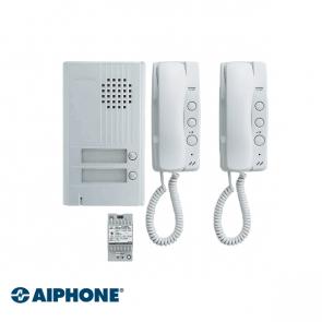 Aiphone Audio set 2 appartementen (DA-1MD x 2, DA-2DS x 1, PT-121DR x 1)