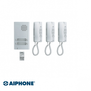 Aiphone Audio set 3 appartementen (DA-1MD x 3, DA-4DS x 1, PT-121DR x 1)