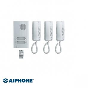 Aiphone Audio set 3 appartementen (DA-1MD x 3, DA-4DS x 1, PT-121DR x 1)