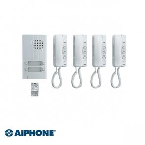 Aiphone Audio set 4 appartementen (DA-1MD x 4, DA-4DS x 1, PT-121DR x 1)