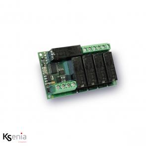 Ksenia Auxi L - PCBA uitbreidingsmodule 5 relais 8A