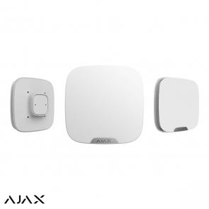 Ajax StreetSiren DoubleDeck, wit, draadloze buitensirene voor Brandplate