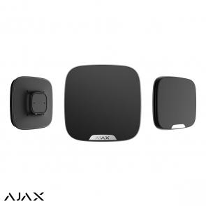 Ajax StreetSiren DoubleDeck, zwart, draadloze buitensirene voor Brandplate