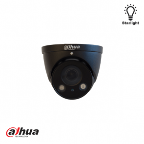 Dahua 2 MP Motorized Starlight IR Dome Camera ZWART