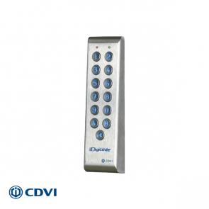 PROFIL codepaneel RVS, 2 relais, met externe sturing