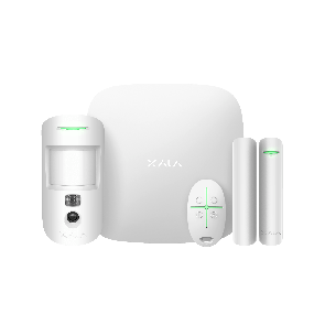 Ajax StarterKit Cam Plus wit, Hub 2 Plus,  MotionCam, DoorProtect, SpaceControl