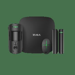 Ajax StarterKit Cam Plus zwart, Hub 2 Plus,  MotionCam, DoorProtect, SpaceControl