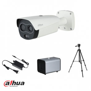 Dahua Thermische Human Temp camera + blackbody, ±0.3C detection set (incl 2x tripod, 2x connector, 1x pwr)
