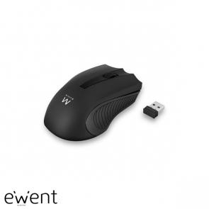 Ewent Draadloze muis, USB nano ontvanger, 1000 dpi, zwart
