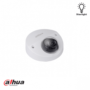 Dahua Starlight 2MP Sony Exmor IR dome camera, audio en micro SD slot 3.6mm