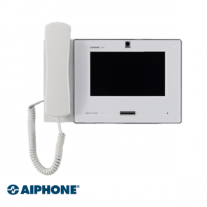 Aiphone 7 inch, Master station met hoorn, WIT