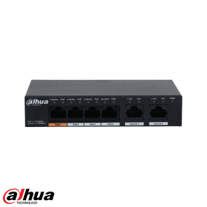 Dahua 6-Port Unmanaged Desktop Gigabit Switch met 4-Port PoE