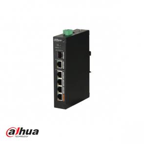 Dahua 4-Port PoE+ Switch, 1 x UTP en 1 x SFP