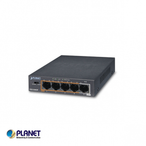 Planet 5-Port 10/100Mbps 802.3af/at POE + 1-Port 10/100MBPS, 250 Meter PoE