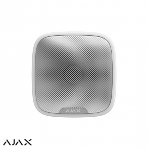 Ajax StreetSiren, wit, draadloze buitensirene met LED