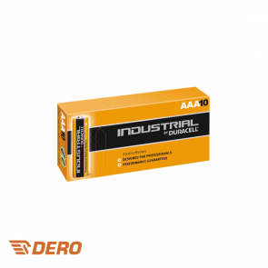 Duracell Industrial AAA Alkaline 1.5v batterij, doos 10 stuks