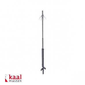 Kaal kantelbare mast 6m, zonder camera opzetstuk, incl. inslagdop