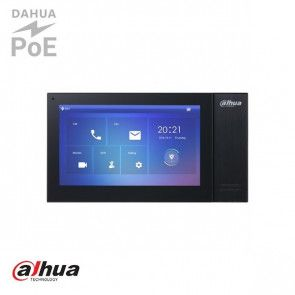 "Dahua 7"" TFT 1024x600 IP Intercom Monitor Zwart"
