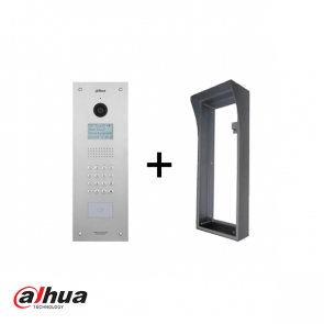 Dahua IP intercom buitenpost appartment, 1.3MP CMOS camera incl. opbouw behuizing