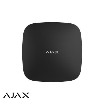 Ajax Hub+, zwart, met 2 x GSM, WiFi en LAN communicatie