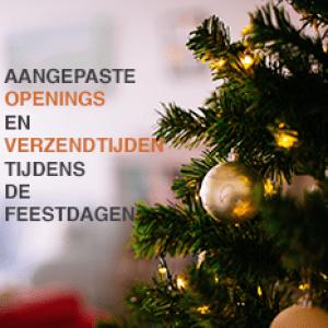 Openings en verzendtijden tijdens de feestdagen